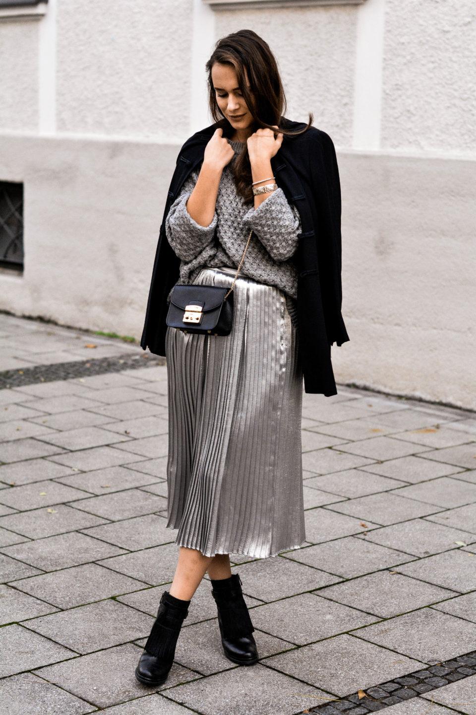 plisse rock Silber furla metropolis olivia julietta mode blog münchen german fashion blog